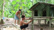 Primitive Technology- Build mini house in forest