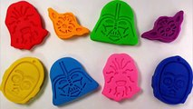 DIY Play Doh Star Wars Learn Colors Modelling Clay Molds Finger Family Nursery Rhymes For