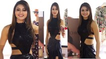 Urvashi Rautela looks gorgeous in a black gown at launch of Femina Flaunt Fragrances | FilmiBeat
