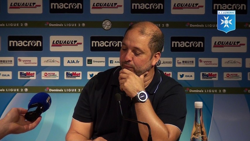 Conférence de presse de Pablo Correa avant Red Star - AJA