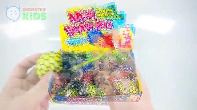 Mesh Squishy Ball VS DIY Mesh Slime Ball   MonsterKids