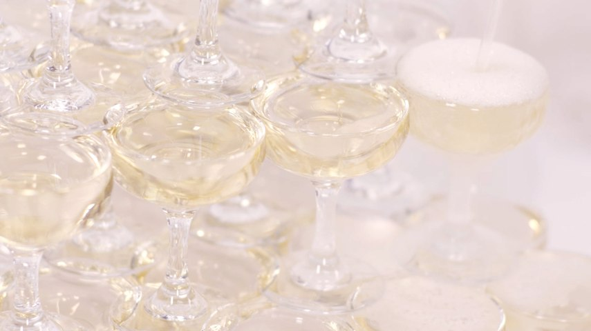 This Mesmerizing Champagne Tower Is The Elegant Attraction Your Soiree Is Missing