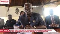Djédjé Mady confirme sa candidature sous la bannière PDCI-RDA et non RHDP Unifié au Conseil Régional du Haut Sassandra