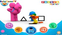 Pocoyo Playset Shape Tracer educational app for preschoolers