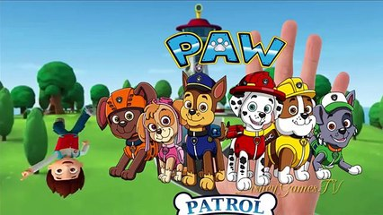 Paw Patrol Finger Family Says The Song Together