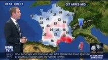 La perturbation s'affaiblit au fil de la journée mais traverse tout le pays, gagnant l'ouest de la France et provoque une baisse des températures