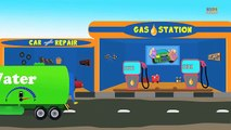 Gas Station | Car Video | Gas Station For Kids