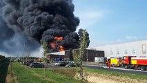 Valence : un violent incendie ravage Allopneus