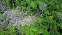 Un dron capta en vídeo por primera vez la vida de una tribu aislada en el Amazonas
