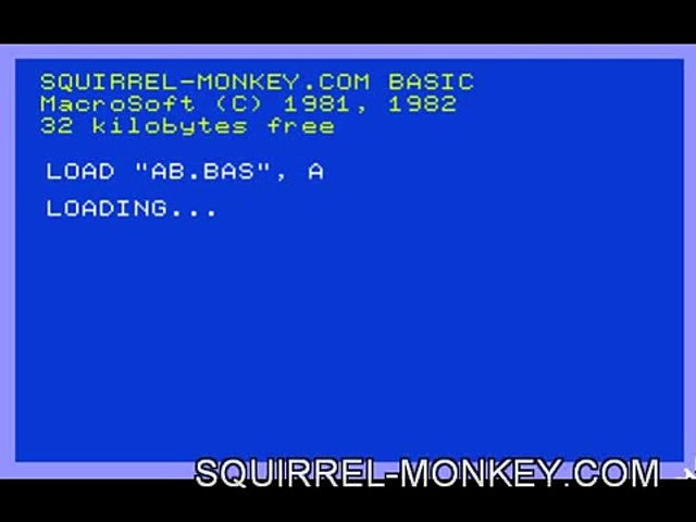 If Angry Birds were an 80s home computer game.