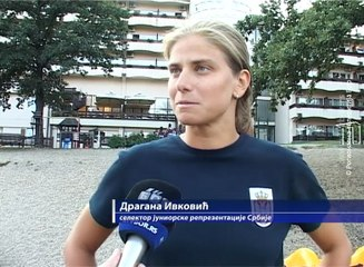 Ženska juniorska vaterpolo reprezentacija na pripremama na Borskom jezeru, 24.avgust 2018. (RTV Bor)