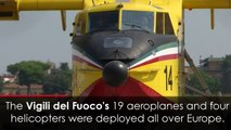 Largest water bomber fleet tackles Europe's wildfires
