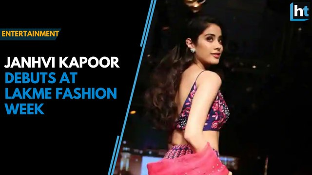 Jahnvi Kapoor debuts at Lakme Fashion Week, walks ramp for Nachiket Barve