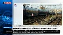 Plus de peur que de mal après le déraillement d'un train sur la ligne Paris - Marseille - Témoignage