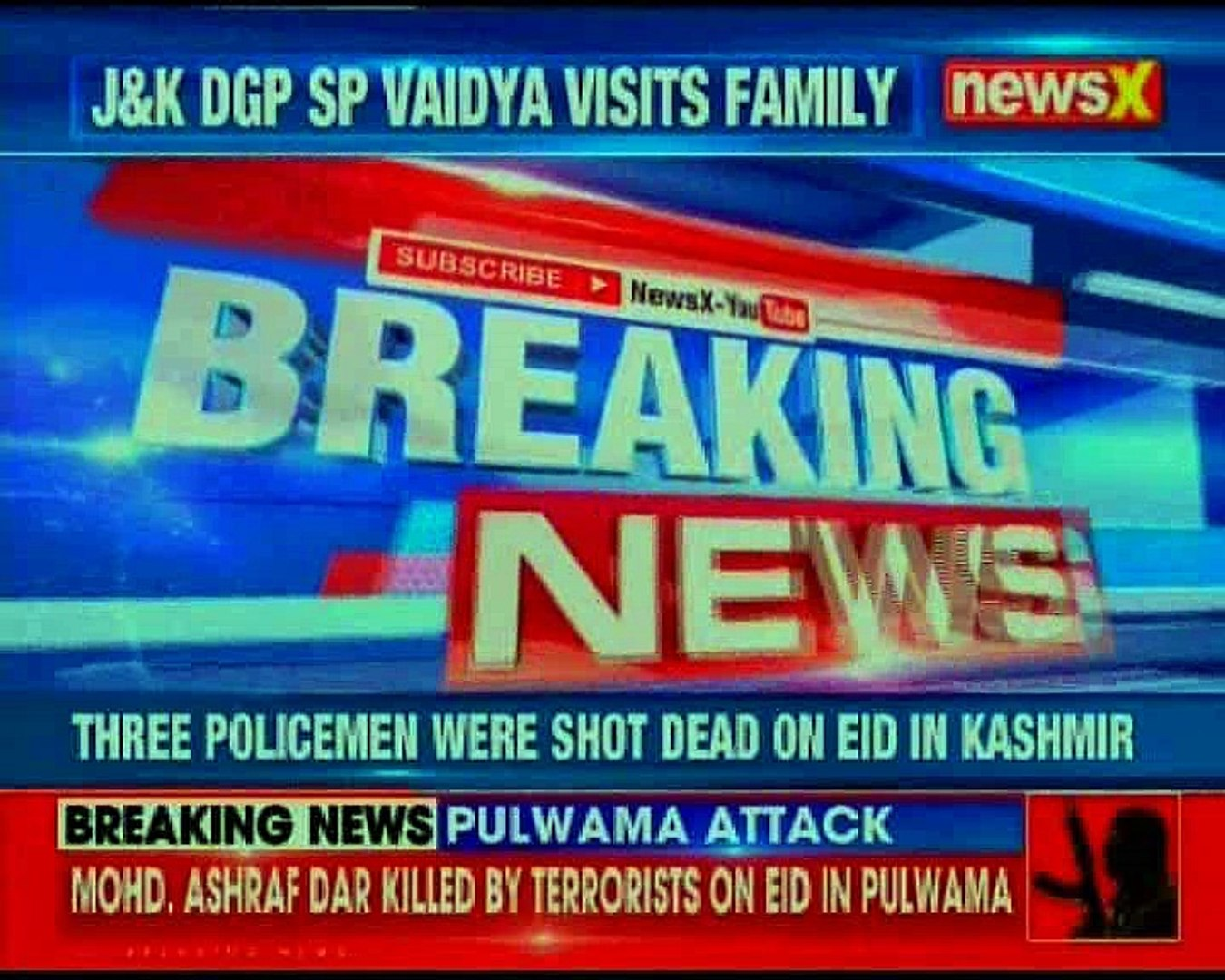 Jammu & Kashmir: Top police brass visits family of policeman who was killed on eid by militants