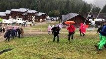 La pluie s'est invitée sur les finales de descente de la Coupe du monde VTT de La Bresse
