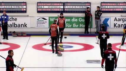 World Curling Tour, Baden Masters 2018, Team Walstad (NOR) vs Team De Cruz (SUI) and Team Schwaller (SUI) and Team Mouat (SCO)