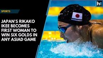 Japan's Rikako Ikee becomes first woman to win six golds in any Asiad game