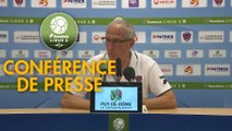 Conférence de presse Clermont Foot - FC Sochaux-Montbéliard (1-0) : Pascal GASTIEN (CF63) - José Manuel AIRA (FCSM) - 2018/2019
