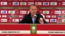 Réaction de Jean-Marc Furlan et Oswald Tanchot après Stade Brestois 29 - Le Havre AC