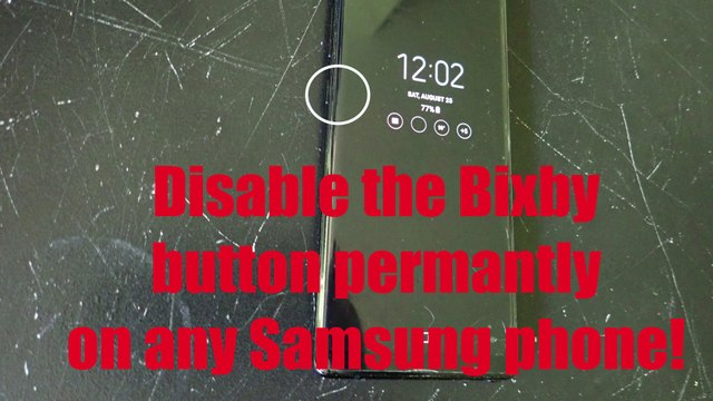 Permanently disable Bixby!  Works on any phone including the Note9! - https://thefatveganchef.com