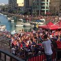 French fans in Malta go wild!Fans in St Julian's celebrate as France are crowned World Cup champions  instagram.com/jeongwoo_9275   Spinola Bay St Julians