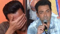 Bobby Deol gets emotional again during Yamla Pagla Deewana Phir Se promotion; Here's Why   FilmiBeat
