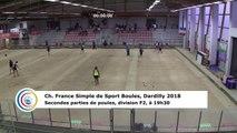 Huitièmes de finale F2, France Simple, Dardilly 2018