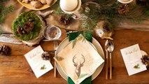 Dekoracje świąteczne stołu na Boże Narodzenie Woodland - sklep MojaGwiazdka.pl