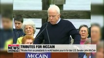 Tributes from ex-presidents to world leaders pour in for late U.S. Senator John McCain