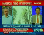Steep rise in terrorists in Kashmir in past 2 years; J&K DGP SP Vaid speaks exclusively to NewsX