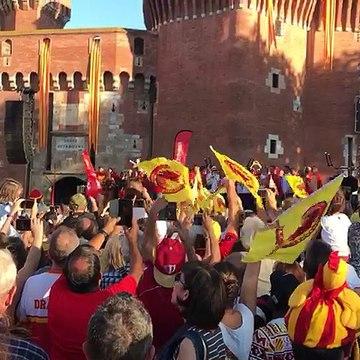 'Els Segadors' a la celebració dels Dragons Catalans de Perpinyà