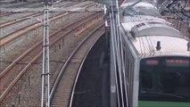 【JR東日本】Trains of JR East Japan running through a curve