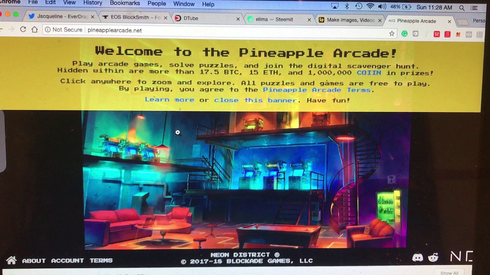 Pineapple Arcade (Play Arcade Games and Win Crypto!)