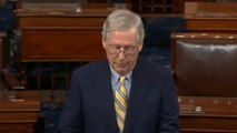 Senate Majority Leader Mitch McConnell Pays Tribute To John McCain
