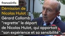 """Démission de Nicolas Hulot : Gérard Collomb  """"regrette"""" le départ  de Nicolas Hulot, qui apportait  """"son expérience et sa sensibilité"""""""