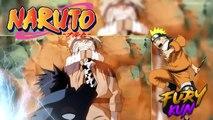 Sasuke Atraviesa a Naruto con su Chidori, Sasuke ve el Poder del Kyubi, -NARUTO