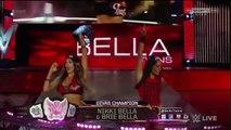 Wwe Raw The Bella Twins vs Paige 2 on1 Handicap Match - WWE Diva Divas Wrestling Fight Fighting Match MMA Sports Brie Bella Nikki Bella