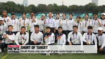 South Korea wraps up Asian Games archery competition with 3 gold medals