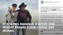 """PHOTO. """"Johnny, je t'aime"""" : Mickey Rourke n'oublie pas son ami rockeur"""