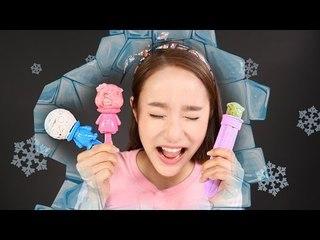 뽀로로 아이스바 만들기 장난감 캐리의 아이스크림 만들기 놀이 CarrieAndToys