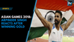 Asian Games 2018: Arpinder Singh reacts after winning a gold medal in men's triple jump