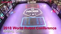 As part of the 2018 World Robot Conference, robots staged intense fights called The King of Bots to show off their abilities as well as impress visitors.The c