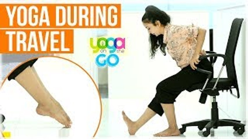 Yoga For Travel | Yoga For Long Trips | Yoga During Travel | Travel Yoga Video | Yoga On The Go | Godialy.com