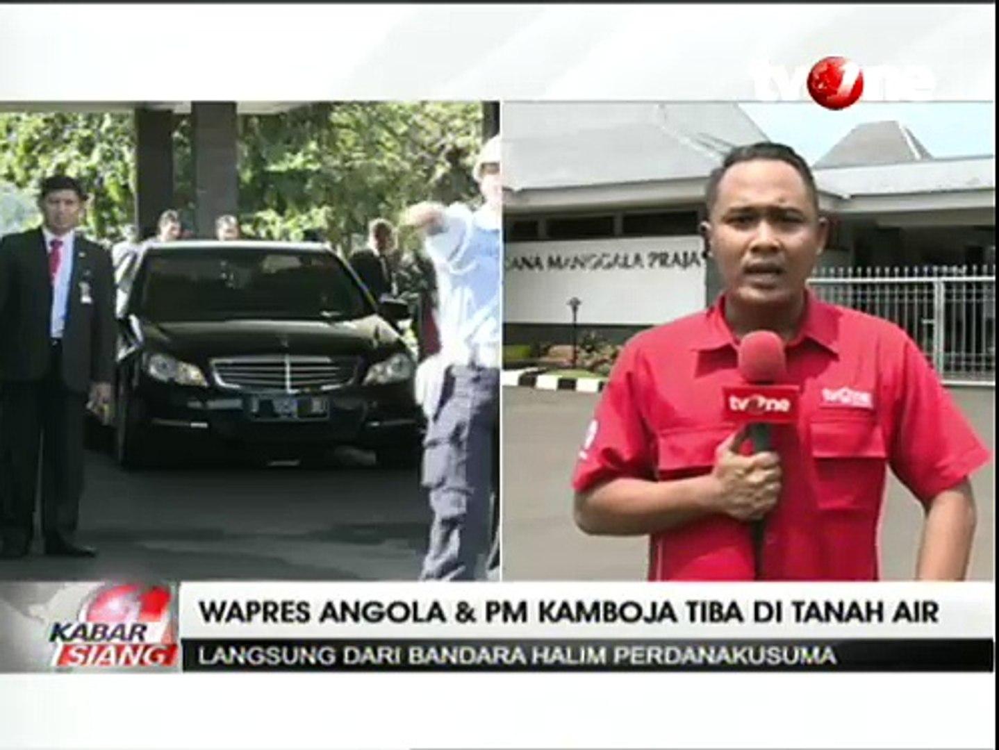 Wapres Angola dan PM Kamboja Tiba di Tanah Air