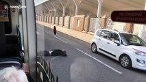 Nottingham man lying still on the middle of road shocks bus passengers