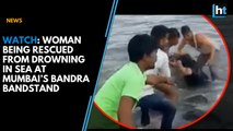 Watch: Woman being rescued from drowning in the sea at Mumbai's Bandra Bandstand