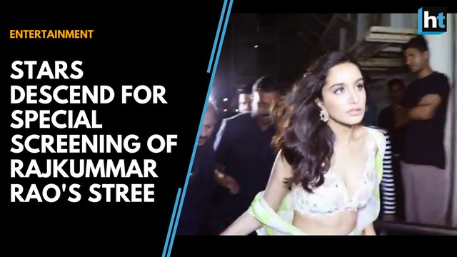 Vicky Kaushal, Shraddha Kapoor and Taapsee Pannu spotted at special screening of Rajkummar Rao's Stree