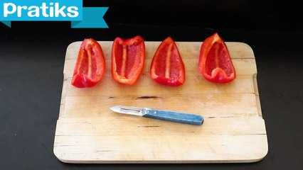 Comment éplucher des poivrons ?