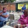 Bagarre de deux hommes saouls dans une ville Belge